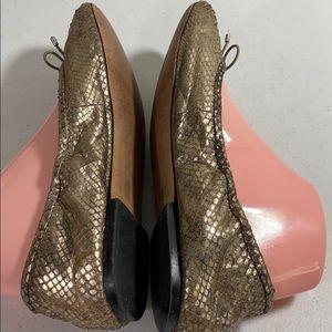 Sam Edelman Shoes - Sam Edelman metallic snake print flats shoes
